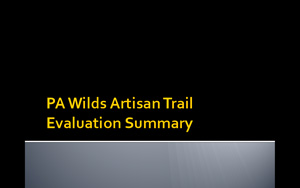 pa-wilds-artisan-trail-evaluation