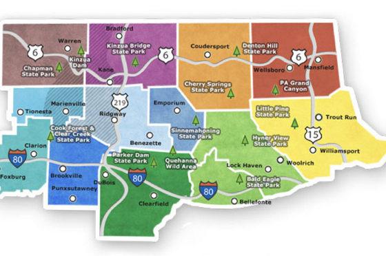 The Pennsylvania Wilds region.
