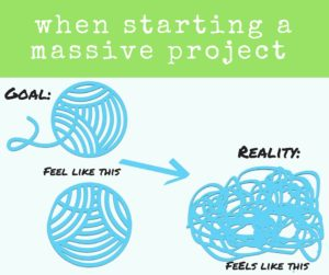 messy yarn just like life