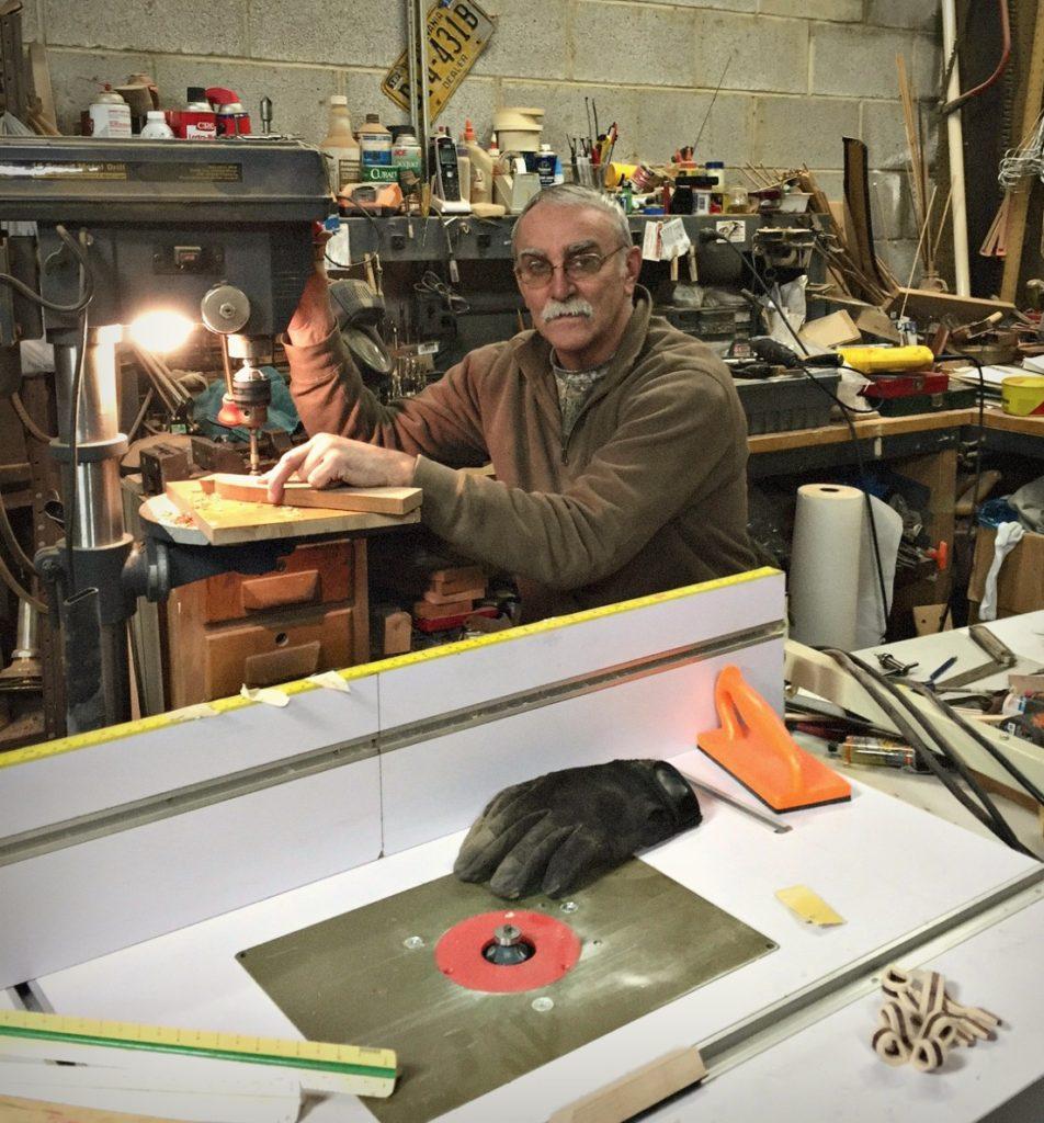 Surra in his studio.